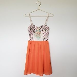 Flying Tomato Embroidered Dress S NWT